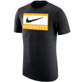 Iowa Hawkeyes Tri-Blend Black Tee