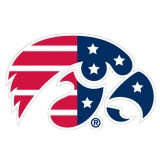 Iowa Hawkeyes Patriotic Logo Mini Decal