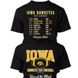 Iowa Hawkeyes 2020 Football Schedule Tee