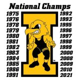 Iowa Hawkeyes Wrestling Champions Decal