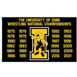 Iowa Hawkeyes Wrestling Champions Flag