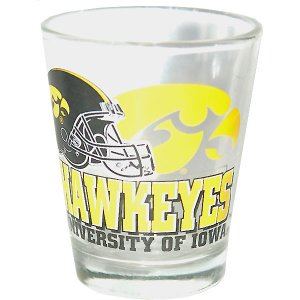 Iowa Hawkeyes Helmet Shot Glass