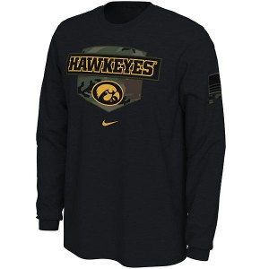 Iowa Hawkeyes Veterans Day Black Tee