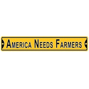 Iowa Hawkeyes America Needs Farmers Street Sign