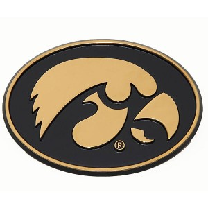 Iowa Hawkeyes Auto Emblem - Gold