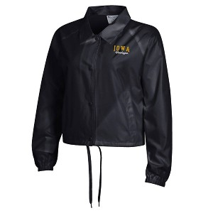 Iowa Hawkeyes Women's Crop Coaches Jacket