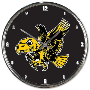 Iowa Hawkeyes Flying Herky Chrome Clock