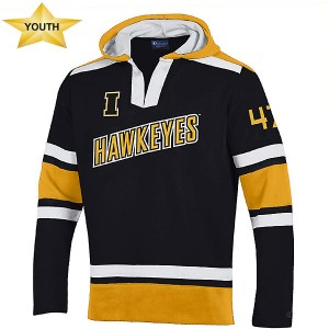 Iowa Hawkeyes Youth Heritage Hockey Hoodie