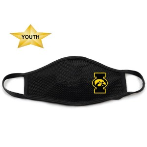 Iowa Hawkeyes Youth Chillinder Mask