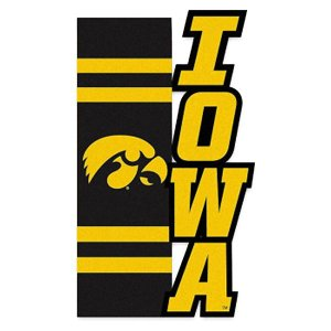 Iowa Hawkeyes Scultped House Flag