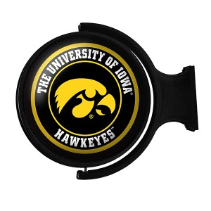 Iowa Hawkeyes Illuminated Tigerhawk Rotating Sign