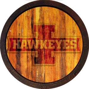 "Iowa Hawkeyes ""I"" Logo Branded Barrel Sign"