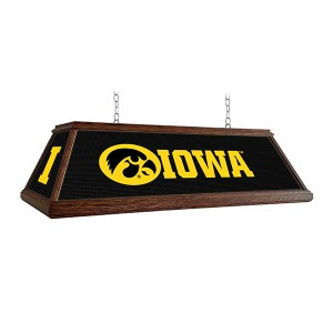 Iowa Hawkeyes Premium Deluxe Wood Logo Pool Table Light