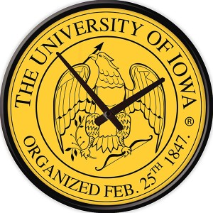 Iowa Hawkeyes Seal Clock