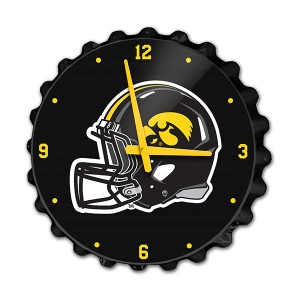 Iowa Hawkeyes Helmet Bottle Cap Clock
