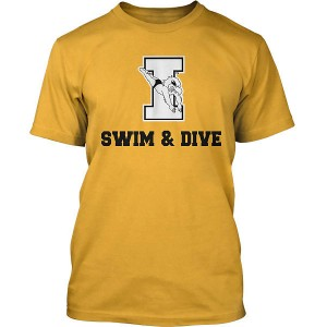 Iowa Hawkeyes Swim & Dive Diver On I Tee