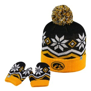 Iowa Hawkeyes Little Cuffed Stocking Cap w/Gloves