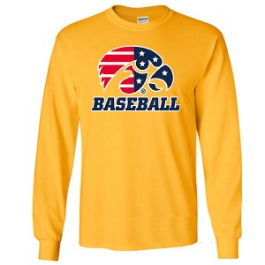 Iowa Hawkeyes Baseball Patriotic Long Sleeve Tee