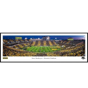 Iowa Hawkeyes 2019 Panoramic Picture - Kinnick Stadium Swarm the Field - Standard Frame
