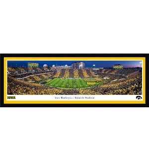 Iowa Hawkeyes 2019 Panoramic Picture - Kinnick Stadium Swarm the Field - Deluxe Frame