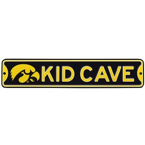 Iowa Hawkeyes Kid Cave Street Sign