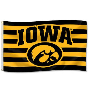 Iowa Hawkeyes Striped Spirit Flag