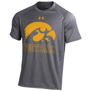 Iowa Hawkeyes Football Logo Tee