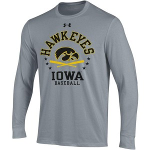 Iowa Hawkeyes Baseball Grey Tee - Long Sleeve