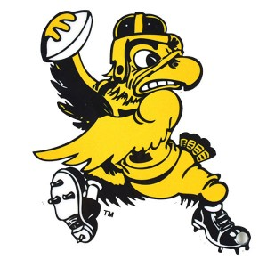 Iowa Hawkeyes Vintage Herky Football Magnet
