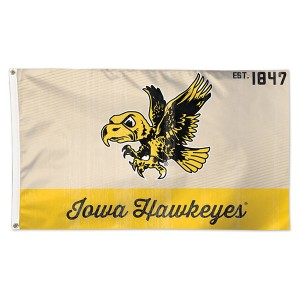 Iowa Hawkeyes Vintage Flying Herky Flag
