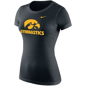 Iowa Hawkeyes Women's Black Gymnastics Tee