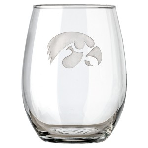 Iowa Hawkeyes Stemless Glass