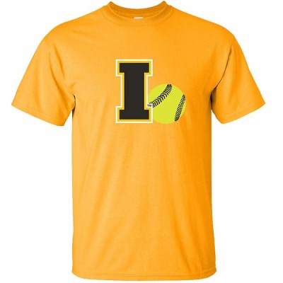 Iowa Hawkeyes Softball Logo Ball Tee