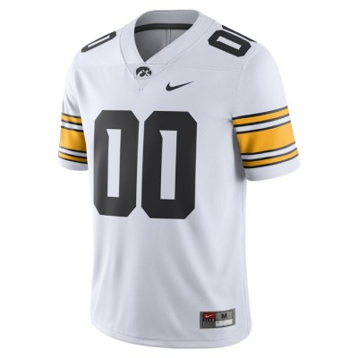 Iowa Hawkeyes Custom Nike Football Jersey - White
