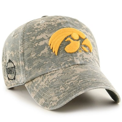 Iowa Hawkeyes Faded Camo Hat