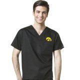 Iowa Hawkeyes Unisex V-Neck Scrub Top
