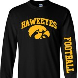 Iowa Hawkeyes Football Arch Logo Tee