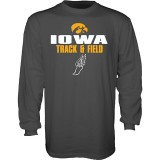 Iowa Hawkeyes Track and Field Blank Slate Tee - Long Sleeve