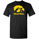 Iowa Hawkeyes Volleyball Logo Short Sleeve Tee