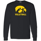 Iowa Hawkeyes Volleyball Logo Long Sleeve Tee