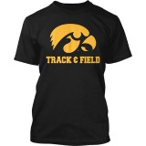 Iowa Hawkeyes Track & Field Tee - Short Sleeve