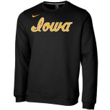 Iowa Hawkeyes Club Fleece Crew Sweatshirt