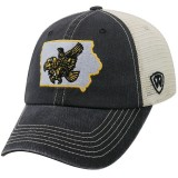 Iowa Hawkeyes Vintage Flying Herky Dirty Mesh Cap