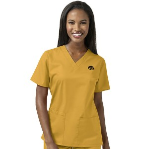 Iowa Hawkeyes Women's V-Neck Scrub Top