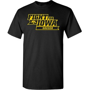 Iowa Hawkeyes Soccer Fight for Iowa Tee