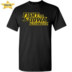 Iowa Hawkeyes Youth Track & Field Fight for Iowa Tee