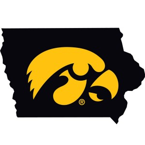 Iowa Hawkeyes Logo State Map Decal
