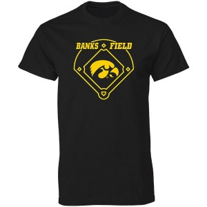 Iowa Hawkeyes Bank Field Baseball Tee