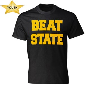 Iowa Hawkeyes Youth Beat State Tee
