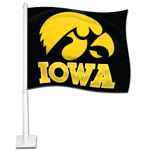 Iowa Hawkeyes 2 Sided Car Flag